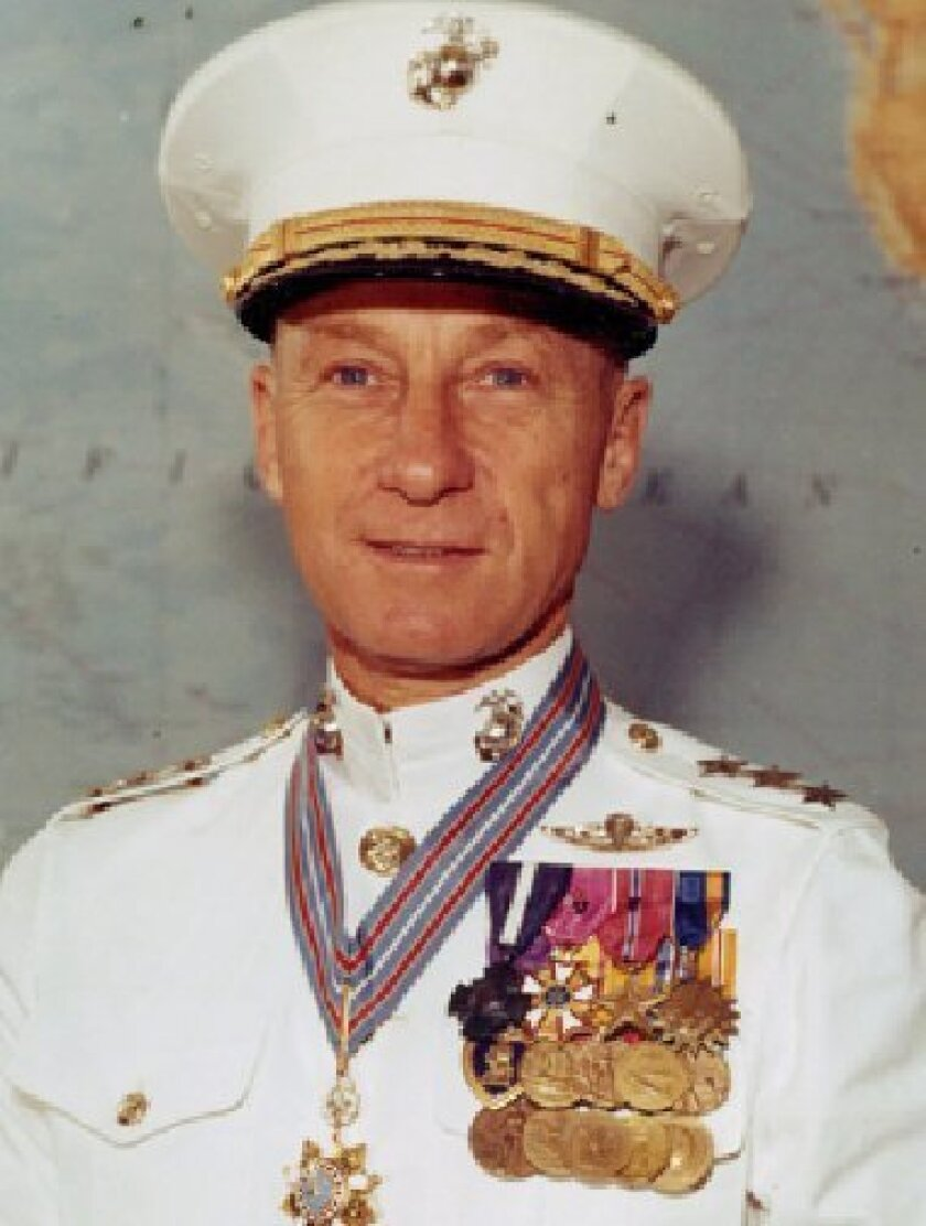 """Lt. Gen. Victor H. """"Brute"""" Krulak, shown during the Vietnam War, at one time commanded all Marine Corps forces in the Pacific. (Union-Tribune file photo)"""