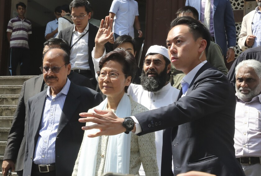 Hong Kong leader and Police apologize Muslim community