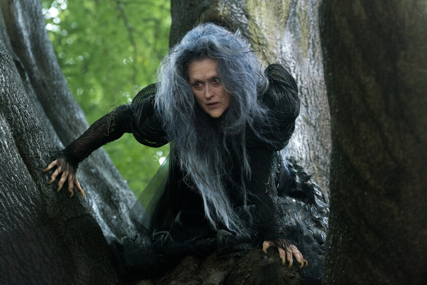 """Meryl Streep in a scene from """"Into the Woods,"""" which just began shooting."""