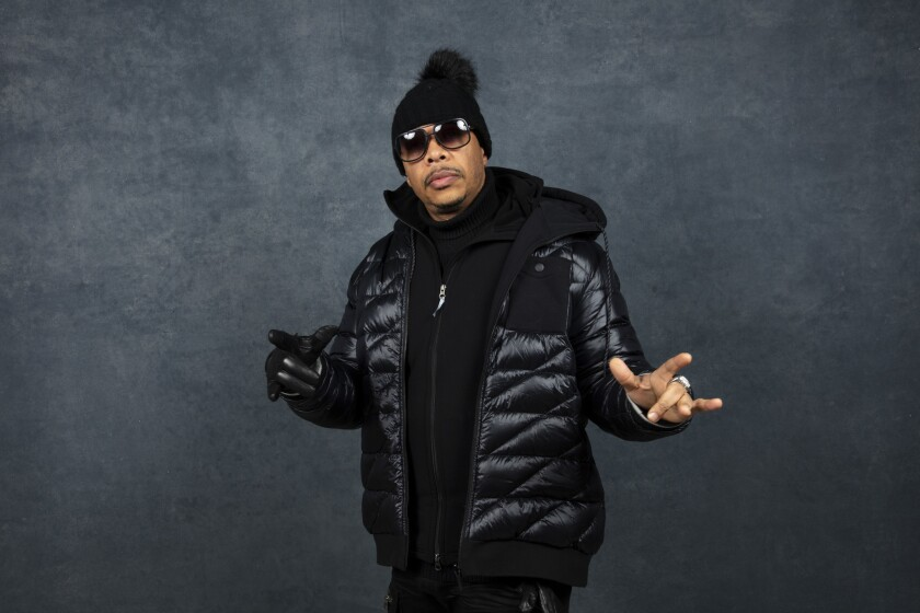 Wu-Tang Clan's U-God at the L.A. Times Photo and Video Studio at the 2019 Sundance Film Festival, in Park City, Utah.