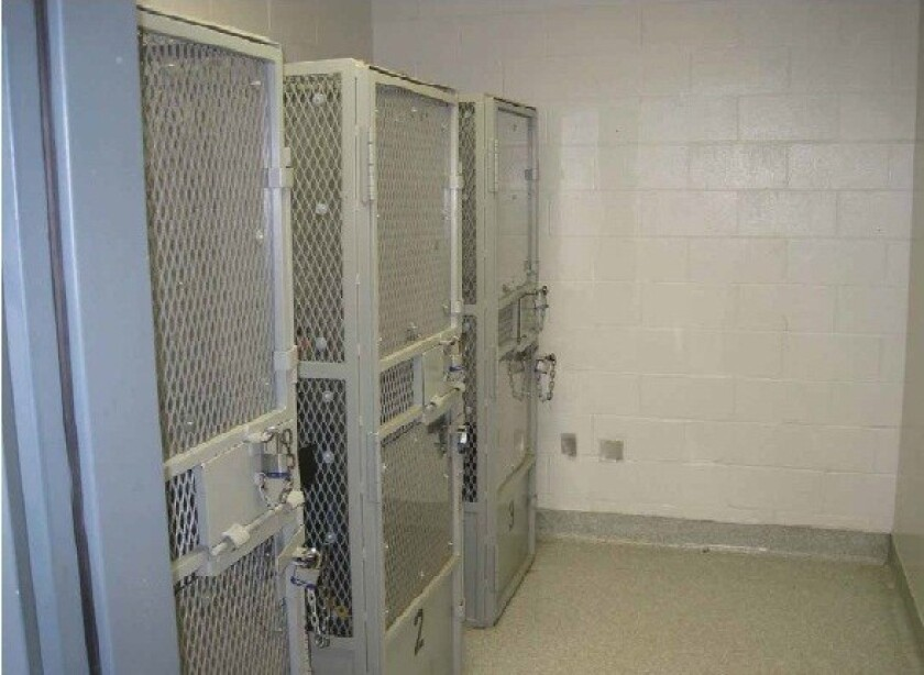 Suicide watch cages at Salinas Valley State Prison. Prisoner rights lawyers are seeking federal court orders to increase staffing and care for mentally ill inmates.