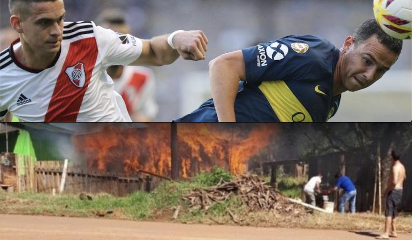 El incendio tras una discusión por el Boca vs River se registró en la localidad de Apóstoles, Misiones, al norte de Argentina.
