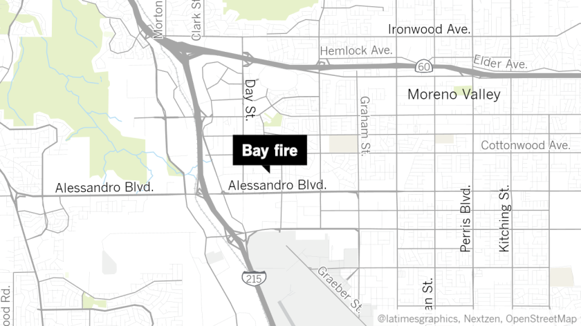Bay fire map