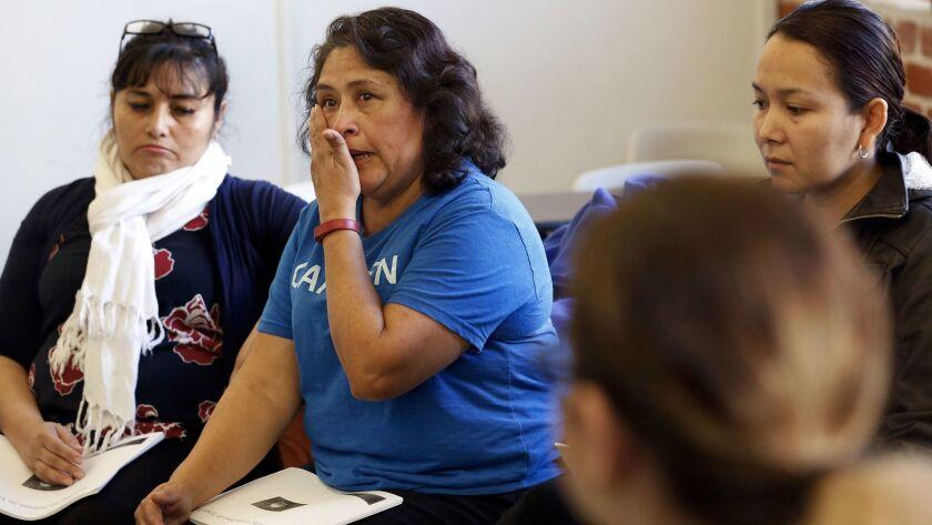 Susana Zamorano, parent coordinator and organizer for the immigrants right organization Carecen, wip