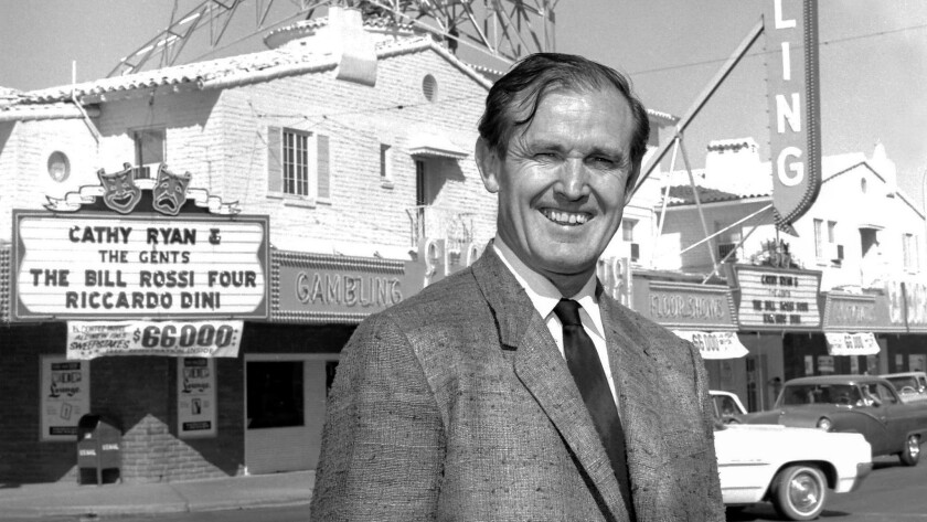 Then-owner Jackie Gaughan is seen outside the El Cortez on April 22, 1965. The casino developer lived in a swanky penthouse at the hotel for nearly 25 years.