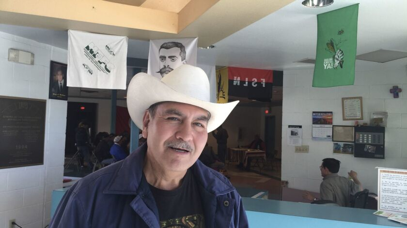 Luis Alvarez, 66, at the Border Farm Workers Center in El Paso on Wednesday.
