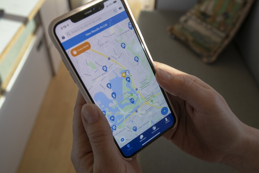 The app connects travelers with free camping spots and with the not-so-well-known visiting locations.