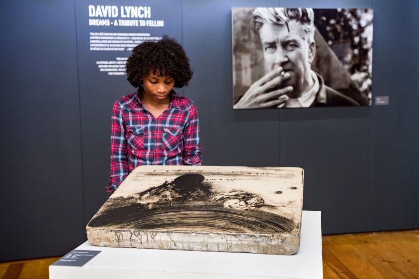 US director David Lynch's tribute to Fellini exhibit in Switzerland, Sion - 07 Sep 2018