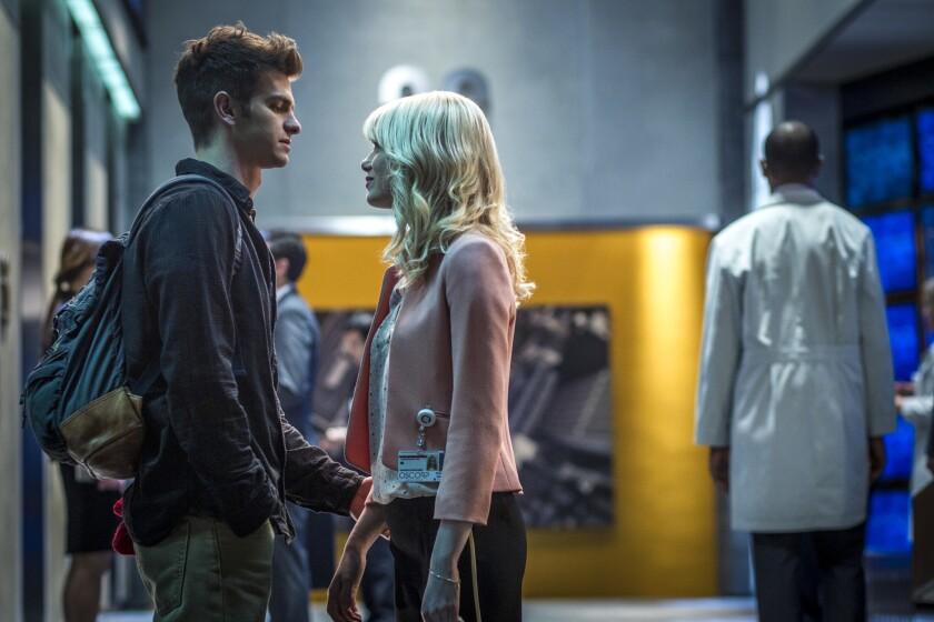 """Andrew Garfield and Emma Stone star in Columbia Pictures' """"The Amazing Spider-Man 2."""""""