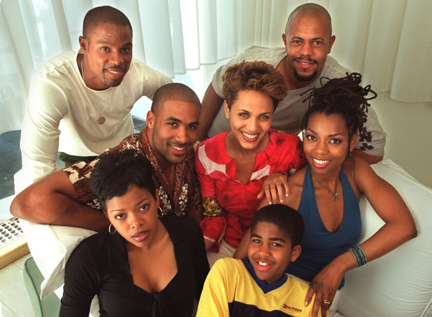 "The cast of Showtime's ""Soul Food"" in 2000."