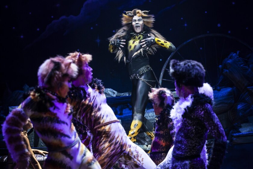 """McGee Maddox as Rum Tug Tugger in the North American tour of """"Cats."""""""
