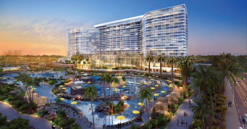 Renderings of the billion-dollar hotel and convention center slated for the Chula Vista Bayfront. Port of San Diego