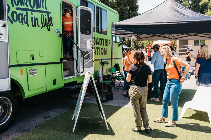 The nonprofit Roadtrip Nation will be parking its signature green RV at MiraCosta College's Oceanside campus on Sept. 26.
