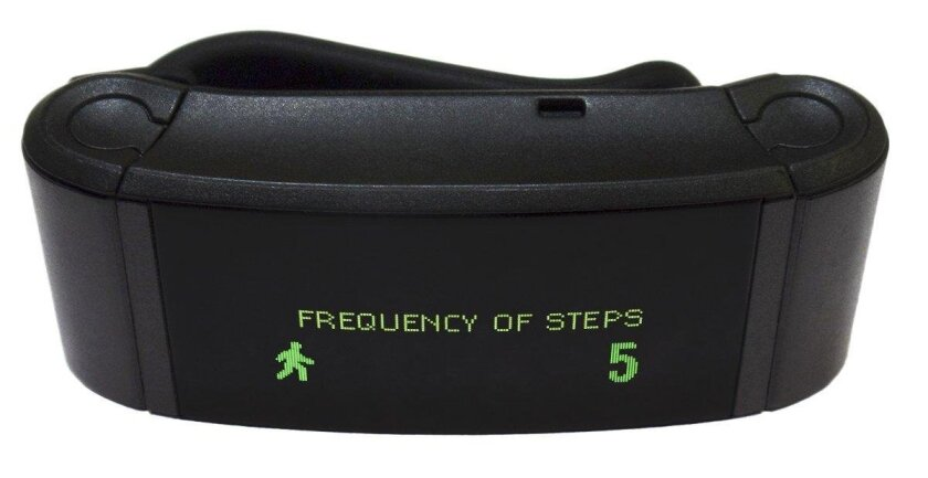 Trio Tracker not only counts steps but also charts the intensity and frequency of exercise