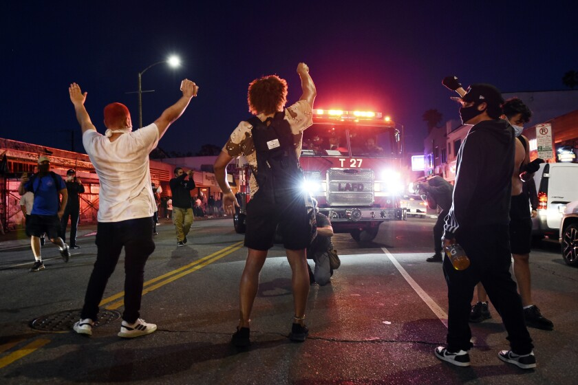 Minneapolis Pollce Death Protest Los Angeles