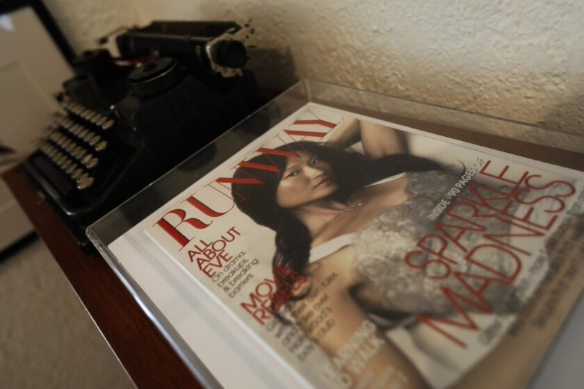 """LOS ANGELES, CA - MARCH 12, 2019 ? A copy of the fictitious, """"Runway,"""" magazine featured in the movi"""