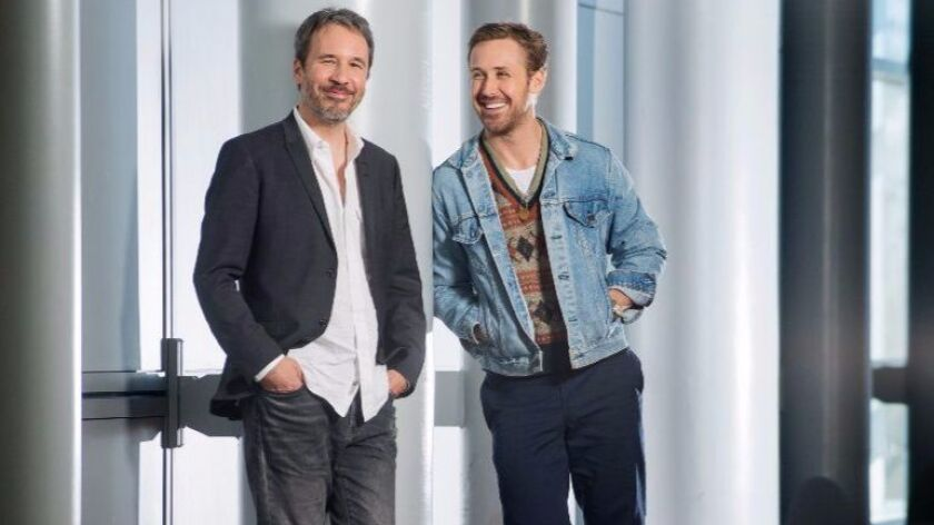 "Denis Villeneuve, left, with Ryan Gosling, strove to make ""2049"" the real deal. ""I love the first fi"