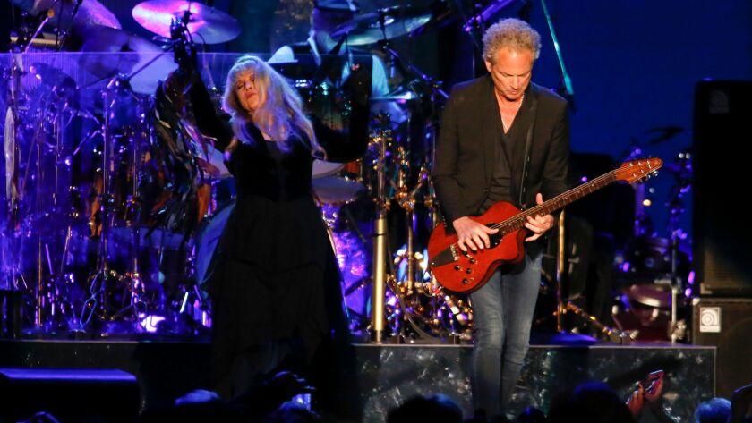 LOS ANGELES, CALIFORNIA-NOVEMBER 29, 2014: Fleetwood Mac reunited for a new album and tour that inc