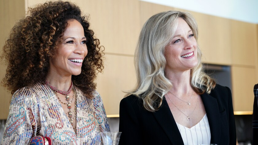 "Sherri Saum, left, and Teri Polo are guests stars in a new episode of the spinoff drama ""Good Trouble"" on Freeform."