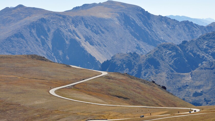 Trail Ridge Road reaches elevations of more than 12,000 feet in Rocky Mountain National Park.