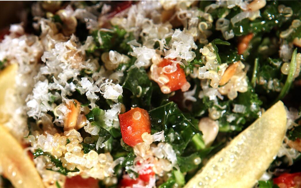 La Grande Orange Cafe's kale and quinoa salad