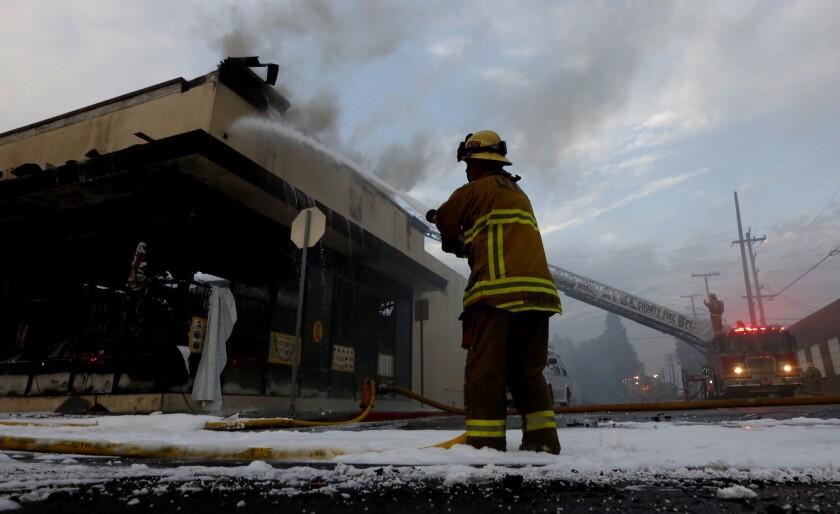 Huntington Park fire