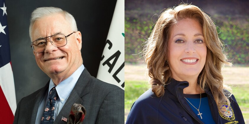 Randy Voepel, left, is a candidate for the State Assembly's 71st District. Marie Waldron is a candidate for the State Assembly's 75th District.