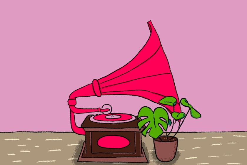 Illustration of gramophone