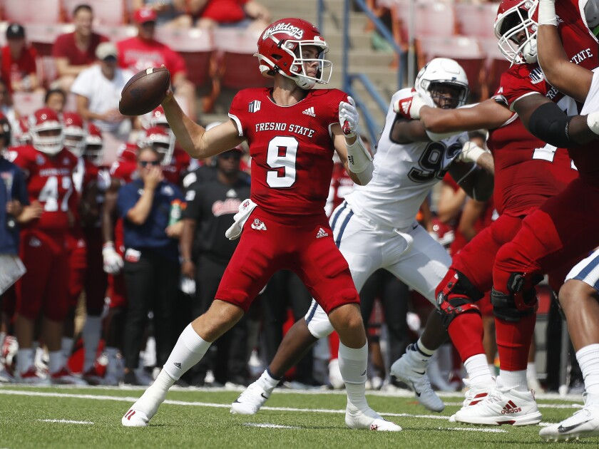 Fresno State quarterback Jake Haener has completed more than 73% of his passes and nearly engineered an upset of Oregon.