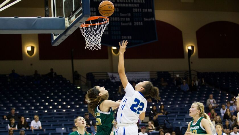 Tara Clay (22) scored nine points for the Titans.
