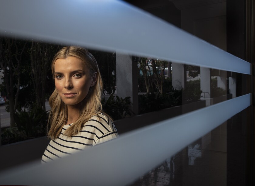 "Betty Gilpin of TV's ""GLOW"" makes a big screen star turn in action-satire ""The Hunt"" -- a film whose tumultuous release has been interrupted by controversy, cancellation and now, the COVID-19 pandemic."