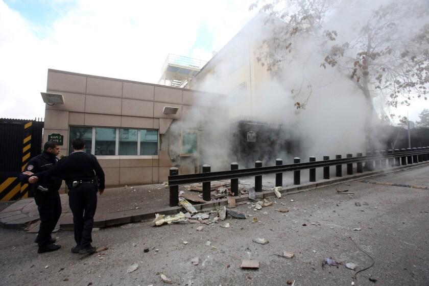 Two dead in bombing outside U.S. Embassy in Turkey - Los ...