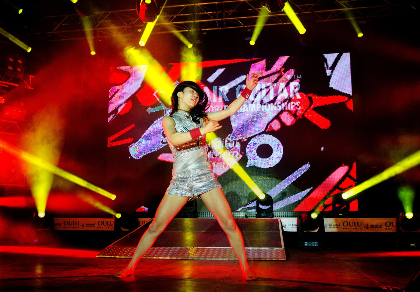Air Guitar World Championships contestants compete for prizes and this year will celebrate the event's 20th anniversary in Oulu, Finland.