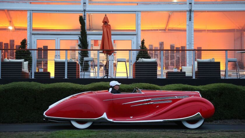 In Pebble Beach each August, you'll see this kind of jewel -- a 1938 Delahaye 165 Figoni & Falaschi Cabriolet.