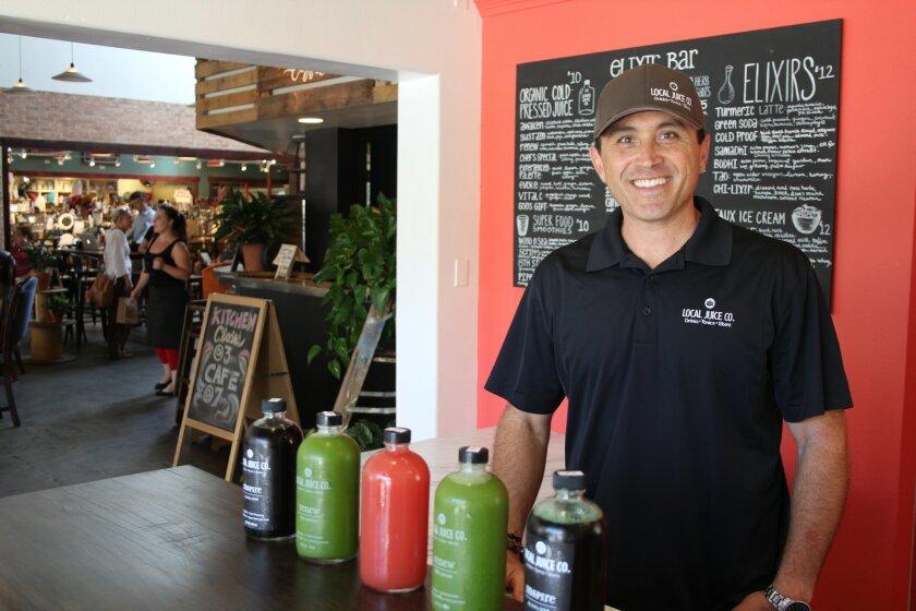Justin Gittelman opened Local Juice Co. on June 13 in Café Cantata in Flower Hill Promenade.