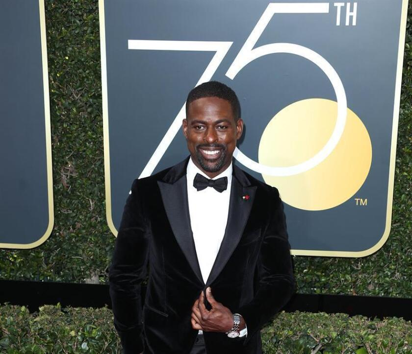 Sterling K. Brown arrives for the 75th annual Golden Globe Awards ceremony at the Beverly Hilton Hotel in Beverly Hills. EFE