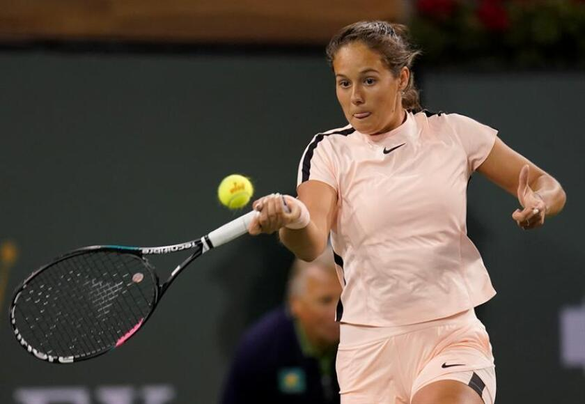 Daria Kasatkina of Russia in action against Venus Williams of the USA during the BNP Paribas Open at the Indian Wells Tennis Garden in Indian Wells, California, USA. EFE