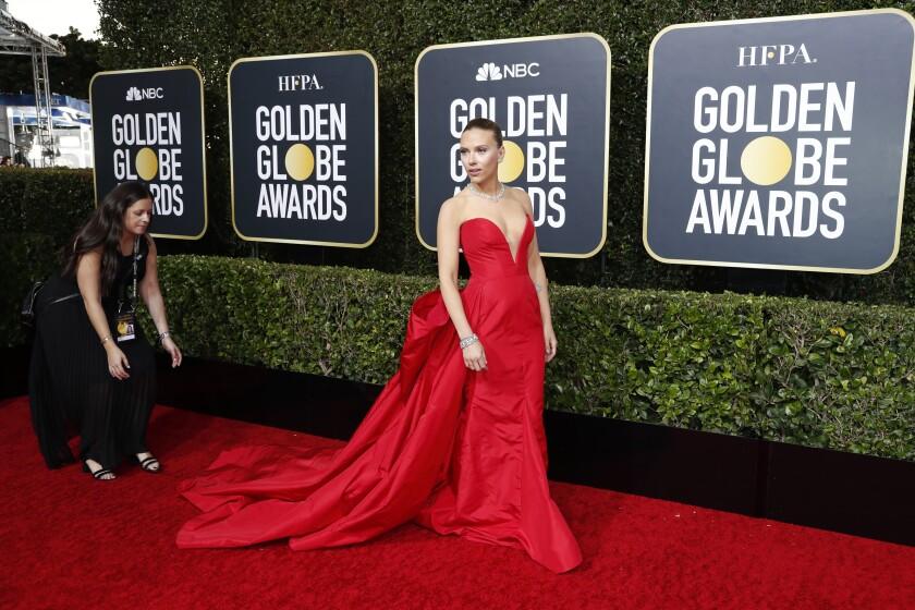Scarlett Johansson at the Golden Globes