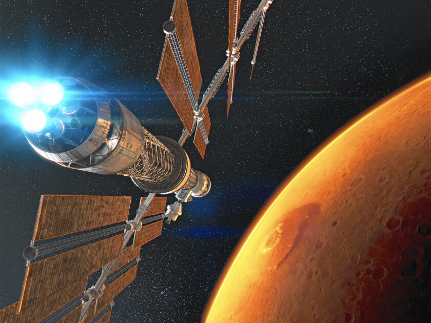 """The Patrick Stewart-narrated Imax movie """"Journey to Space 3D"""" comes to the California Science Center, home of the space shuttle Endeavour, with a companion exhibition."""