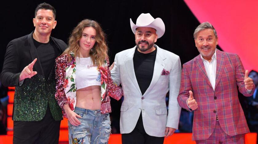 Yahir, Belinda, Lupillo y Ricardo, jueces de La Voz México.