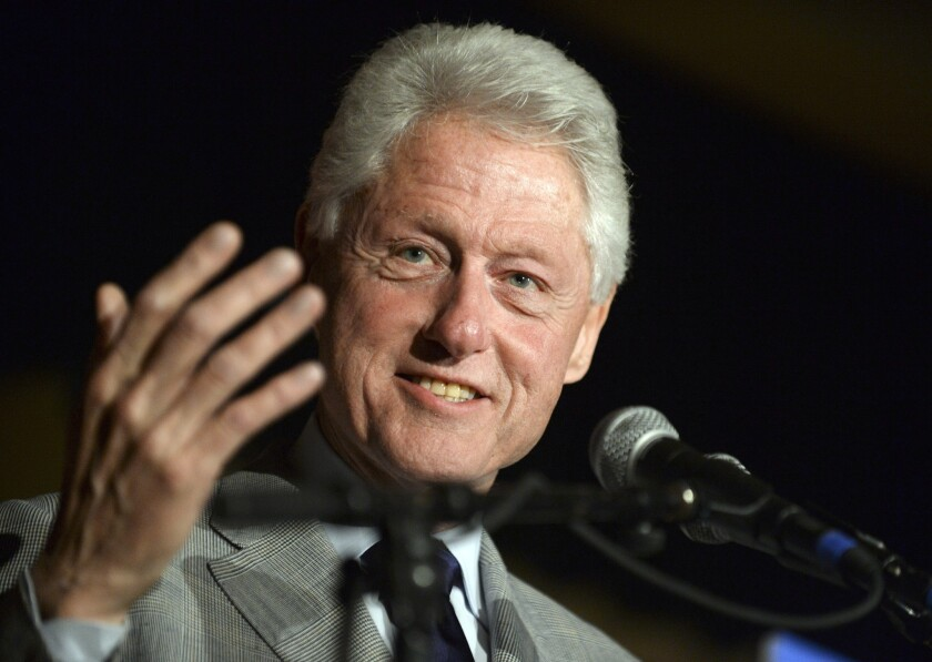 Former President Bill Clinton, shown at a campaign stop Thursday in Louisiana, spoke Saturday in Detroit to campaign volunteers for his wife, Hillary Clinton.