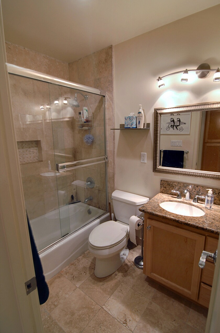 Size Wise: Small bathroom, big makeover - Los Angeles Times on Small Bathroom Ideas Photo Gallery id=39974