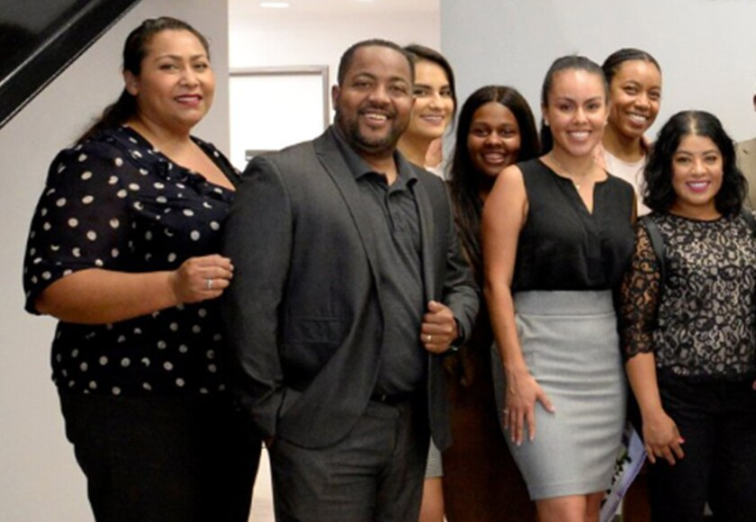 Herb Wesson III, son of Los Angeles City Council President Herb Wesson, with other staffers for Councilman Curren Price in 2018.