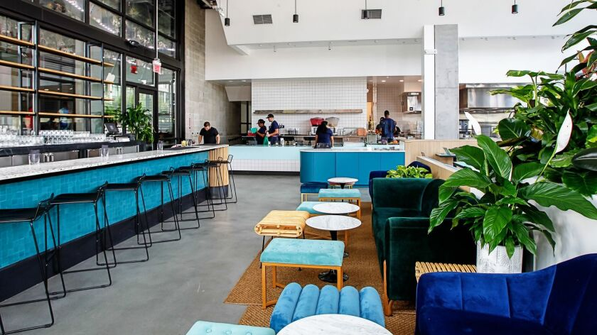 Like the elevated Mexican food and citrus-centric cocktail menu from bar manager Gareth Moore, Lola 55's open dining room is sophisticated and modern, a trademark of LA-based design firm Bells + Whistles.
