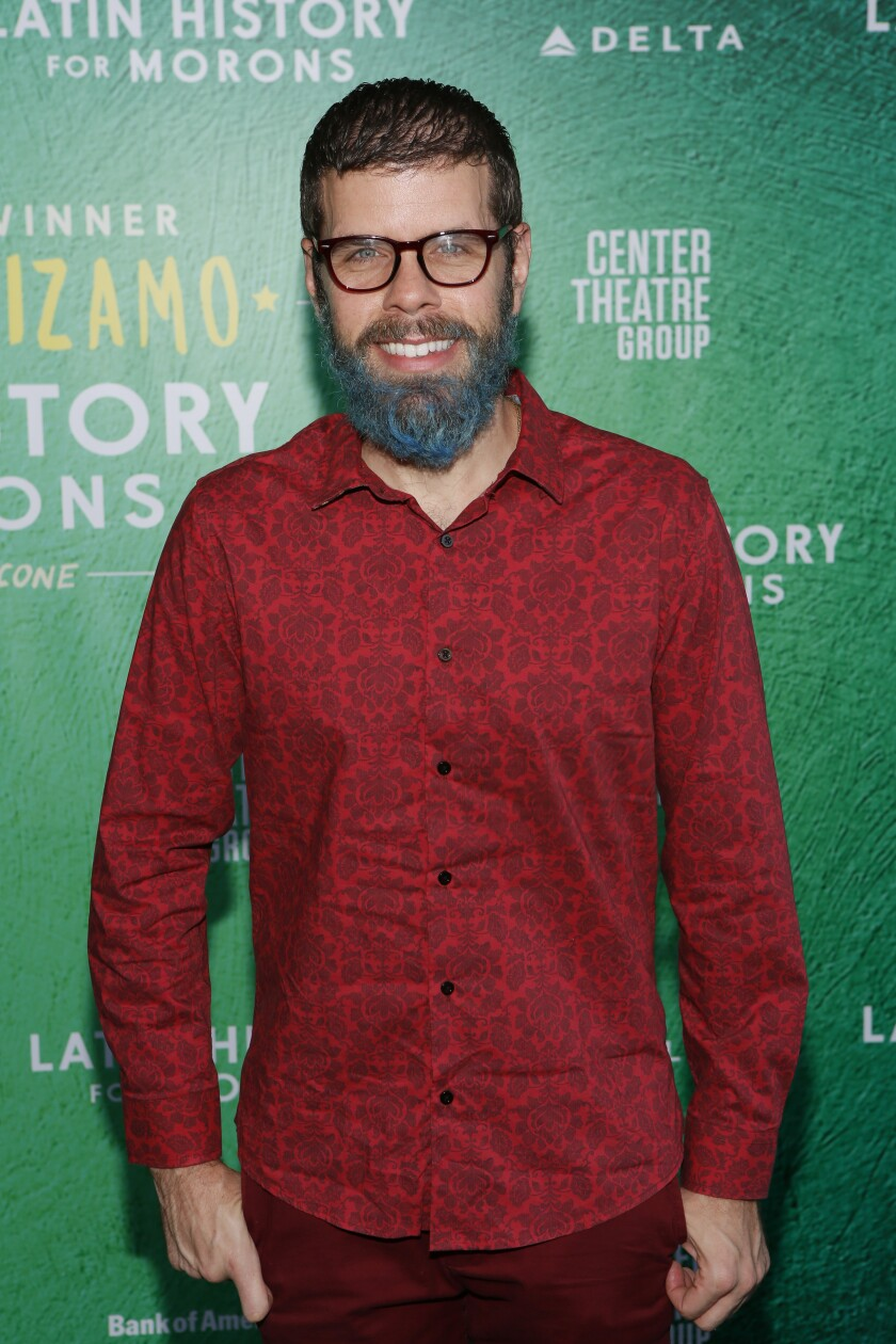 """Perez Hilton at the opening-night performance of """"Latin History for Morons"""" at the Ahmanson Theatre in Los Angeles on Sunday."""