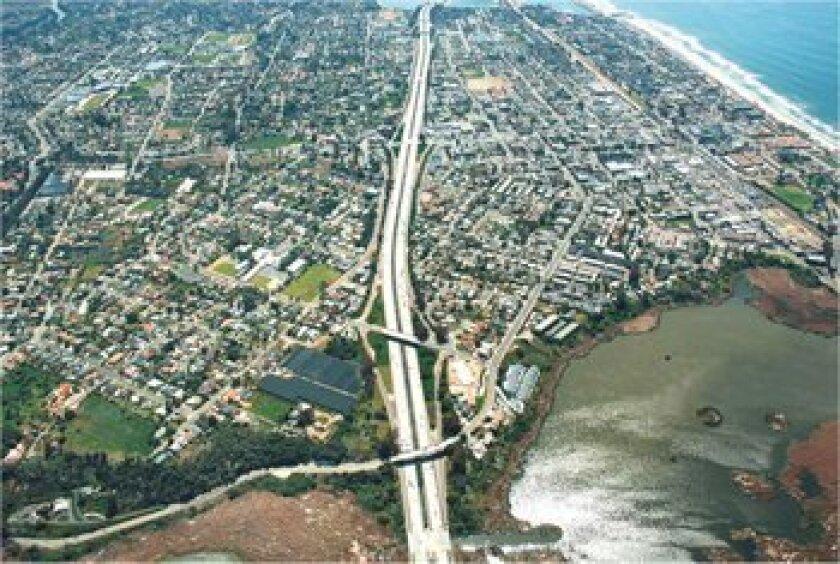 Interstate 5 runs along the coast through San Diego County. Photo: Caltrans
