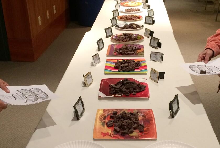 Nina Gilbert's presentation will showcase single-origin chocolates from Venezuela, Hawaii, the Dominican Republic, Ecuador, Peru, Colombia, and the Congo, plus two blended chocolates.