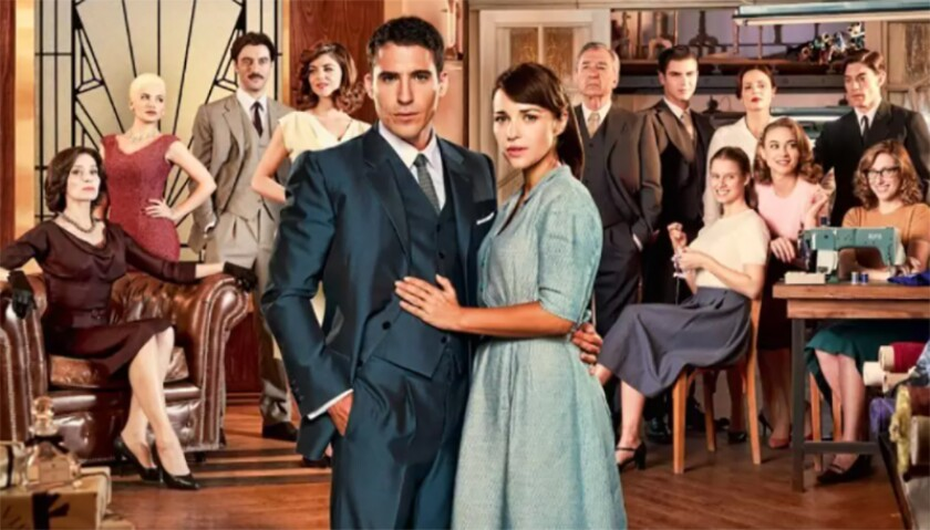 """""""Velvet,"""" a Spanish-language series streaming on Netflix with Miguel Ángel Silvestre and Paula Echevarría in the lead roles."""