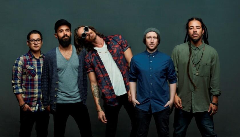 From left, musicians Jose Pasillas, Ben Kenney, Brandon Boyd, Ben Einziger and Chris Kilmore.