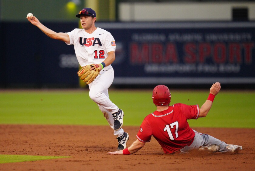 Nick Allen of the United States shown against Canada on June 4 in West Palm Beach, Fla.